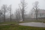Anlage mit Pavillon und Bäumen auf der Baumgartner Höhe